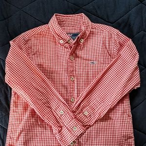 Boy's Red Checked VV Button Down - Sz 5
